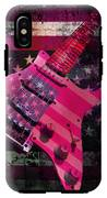 Usa Pink Strat Guitar Music IPhone X Tough Case
