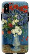 Vase With Cornflowers And Poppies IPhone X Tough Case