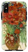 Vase With Daisies And Poppies IPhone X Tough Case