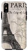 Vintage Travel Poster Paris IPhone X Tough Case