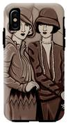 Violet And Rose In Sepia Tone IPhone X Tough Case