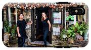 Waitresses At Outdoor French Terroir In Old Quebec City IPhone X Tough Case