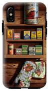 Wall Spice Rack - Americana Kitchen Art Decor - Vintage Spice Cans Tins - Nostalgic Spice Rack IPhone X Tough Case