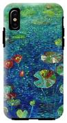 Water Lily Lotus Lily Pads Paintings IPhone X Tough Case