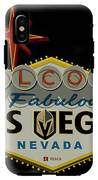 Welcome To Vegas Knights Sign Digital Drawing IPhone X Tough Case