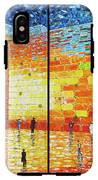 Western Wall Jerusalem Wailing Wall Acrylic Painting 2 Panels IPhone X Tough Case