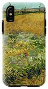 Wheat Field With Alpilles Foothills In The Background At Wheat Fields Van Gogh Series, By Vincent  IPhone X Tough Case
