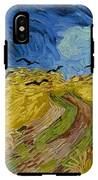 Wheat Field With Crows At Wheat Fields Van Gogh Series, By Vincent Van Gogh IPhone X Tough Case