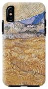 Wheat Field With Reaper Harvest In Provence IPhone X Tough Case