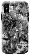 White Blossoms In Black And White IPhone X Tough Case
