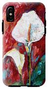 White Calla Lilies Oil Painting IPhone X Tough Case