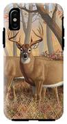 Whitetail Deer Painting - Fall Flame IPhone X Tough Case