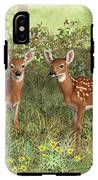 Whitetail Deer Twin Fawns IPhone X Tough Case