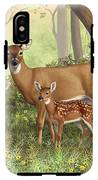 Whitetail Doe And Fawns - Mom's Little Spring Blossoms IPhone X Tough Case