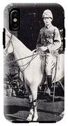 Winston Churchill On Horseback In Bangalore, India In 1897 IPhone X Tough Case
