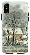 Winter In The Country - The Old Grist Mill IPhone X Tough Case