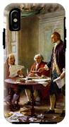 Writing The Declaration Of Independence IPhone X Tough Case