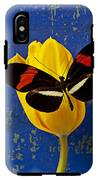 Yellow Tulip With Orange And Black Butterfly IPhone X Tough Case