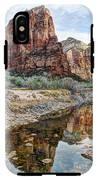 Zions National Park Angels Landing - Digital Painting IPhone X Tough Case