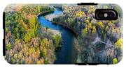 Manistee River From Above In Spring IPhone X Tough Case