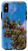 Monarch Butterflies On Tree Branch In IPhone X Tough Case
