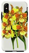 Orchid Vintage Print On Tinted Paperboard IPhone X Tough Case