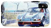 1973 Targa Floria Porsche 911 Carrera Rsr Martini Racing Lennep Muller Winner  IPhone X Tough Case