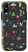 Cute Alphabet. Letters And Words. Learn IPhone X Tough Case