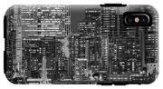 Illuminated City At Night, Seattle IPhone X Tough Case