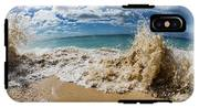 View Of Surf On The Beach, Hawaii, Usa IPhone X Tough Case