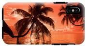 Palm Trees At Sunset, Moorea, Tahiti IPhone X Tough Case