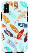 Blue Boarding Beach IPhone X Tough Case