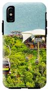 Cable Car On Langkawi Island, Malaysia IPhone X Tough Case
