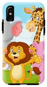 Cartoon Happy Little Animal IPhone X Tough Case