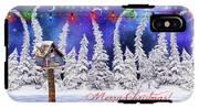 Christmas Card With Bird House IPhone X Tough Case