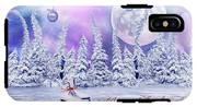 Christmas Card With Ice Skates IPhone X Tough Case