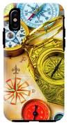 Compass And Compass Rose IPhone X Tough Case