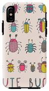 Cute Bugs. Cartoon Insects In Vector Set IPhone X Tough Case
