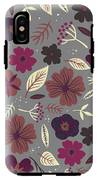 Floral Seamless Pattern. Colored IPhone X Tough Case