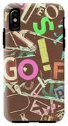 Golfing Print Press IPhone X Tough Case