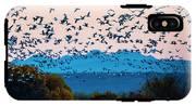 Herd Of Snow Geese In Flight, Soccoro IPhone X Tough Case
