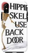 Hippie Skeletons Use Back Door IPhone X Tough Case