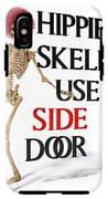 Hippie Skeletons Use Side Door IPhone X Tough Case