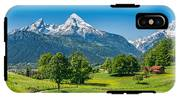 Idyllic Summer Landscape In The Alps IPhone X Tough Case