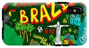 Illustrated Map Of Brazil IPhone X Tough Case