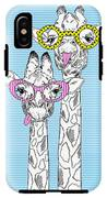 Illustration Of Giraffes In Funky IPhone X Tough Case