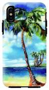 Island Solitude Palm Tree And Sunny Beach IPhone X Tough Case