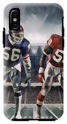 Lawrence Taylor New York Giants And Derrick Thomas Kansas City Chiefs Abstract Art 1 IPhone X Tough Case