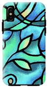 Leaves And Curves Art Nouveau Style II IPhone X Tough Case