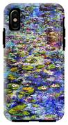 Lily  Pond Impressions Oil Painting IPhone X Tough Case